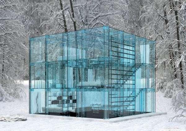 Прозрачный дом (7 фото)