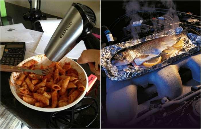 Забавные снимки о голоде и экстремальной кулинарии.