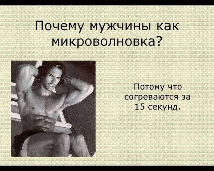 Женщины о мужчинах.