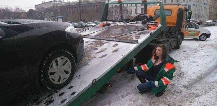 Эвакуаторщик, с которым не жалко отдавать машину на штрафстоянку (3 фото)