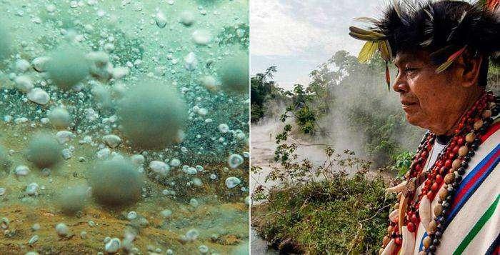 Mayantuyacu - кипящая река в джунглях Амазонки (9 фото)