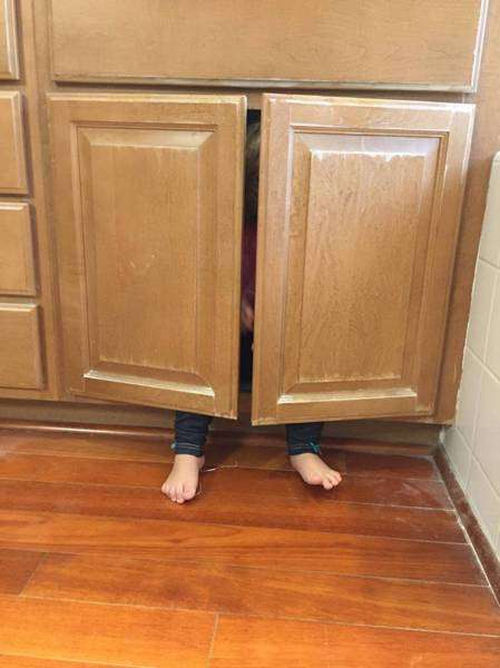 Дети плохо играют в прятки (60 фото)