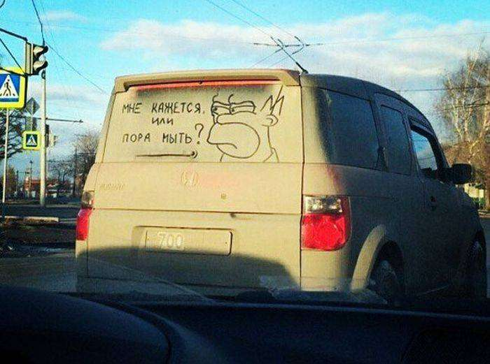 Автомобильный юмор (36 фото)