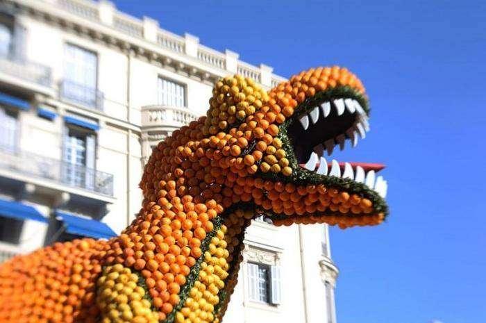 Апельсиновые скульптуры (6 фото)