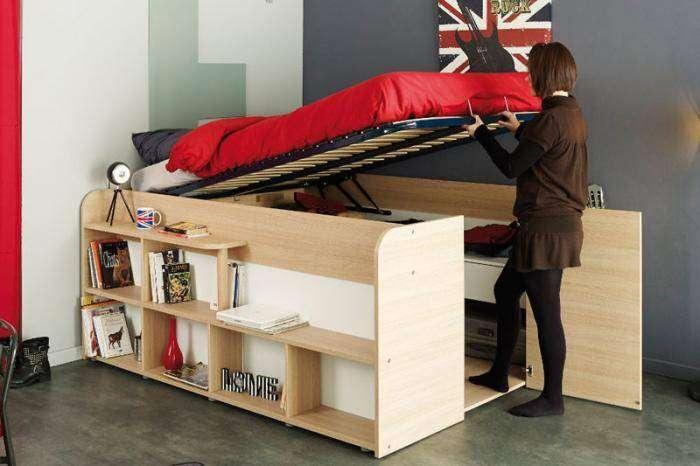 Кровать-кладовка для небольшой спальни (8 фото)
