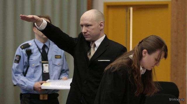 Норвежский террорист требует улучшения условий содержания (2 фото)