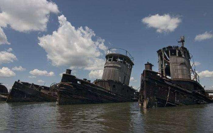 Кладбище кораблей в Джорджии (27 фото)