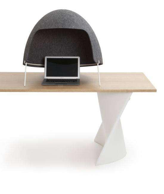 Офисный шлем - новинка для тех, кому надоел шум в офисе (5 фото)