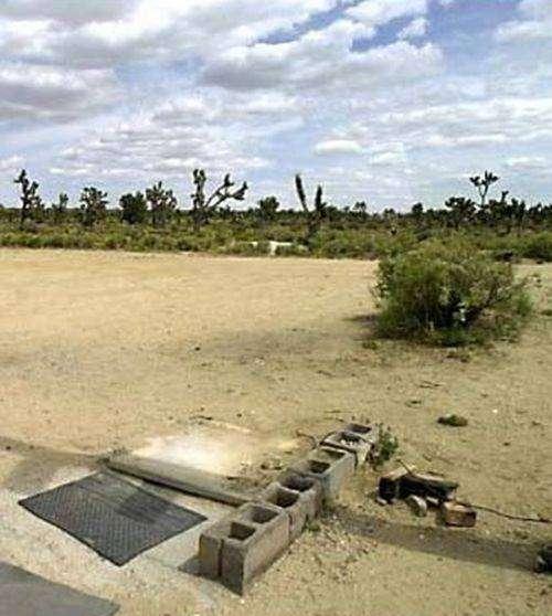 Одинокая телефонная будка посреди пустыни Мохаве (4 фото)