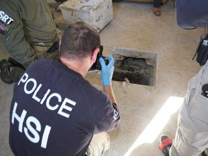 На границе США и Мексики обнаружен тоннель для контрабанды (3 фото)