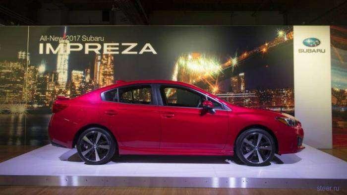 Первые фотографии нового седана Subaru Impreza (7 фото)