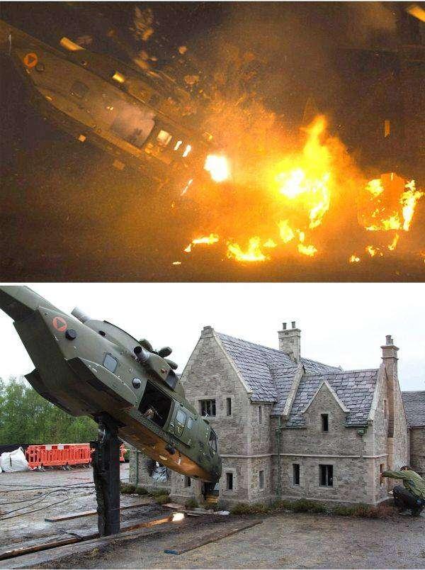 Кадры из «Джеймса Бонда» до и после наложения спецэффектов (15 фото)