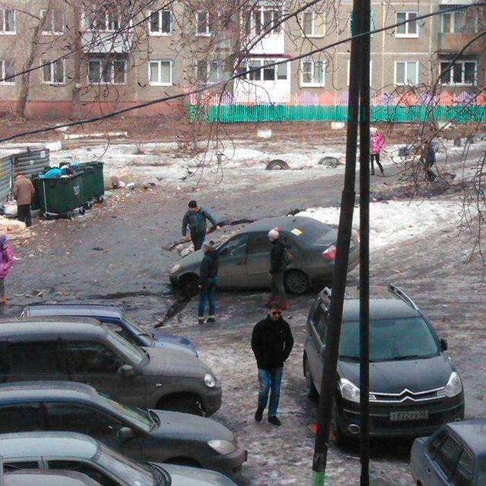 Омские дороги, дворы и тротуары (22 фото)