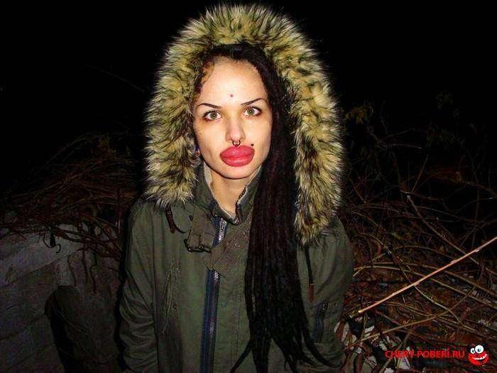 Кристини Рэй - самые большие губы в мире