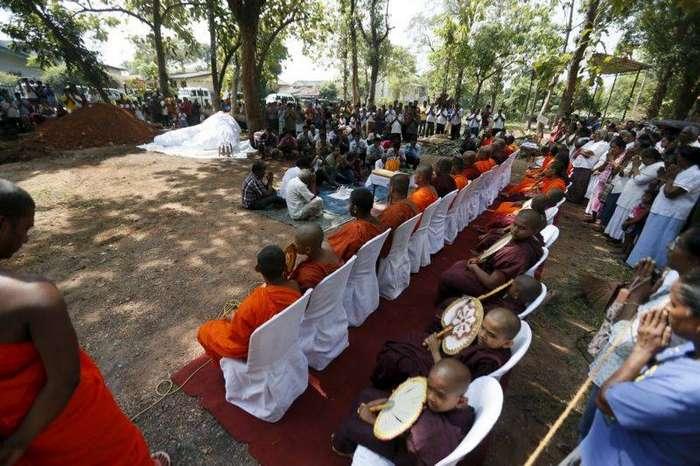 Как буддистские монахи хоронят слонов (10 фото)