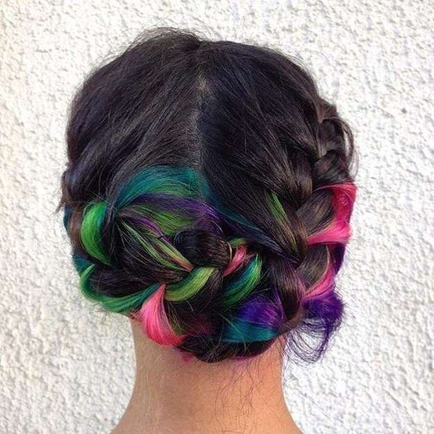 Частично окрашенные волосы — яркая изюминка (22 фото)