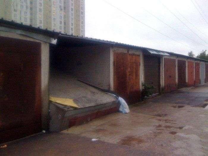 Эпический провал владельца гаража (3 фото)