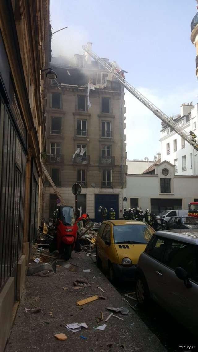 В жилом доме в центре Парижа произошел взрыв (5 фото)