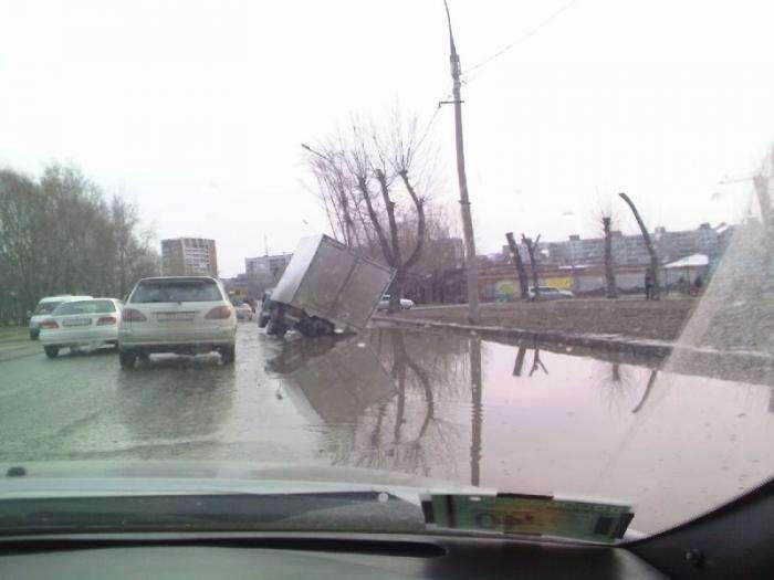 Новосибирские дороги (3 фото)