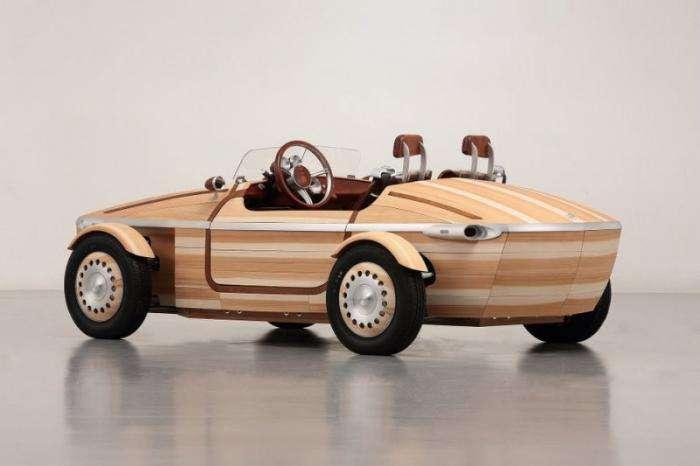 Тойота представила автомобиль из дерева (13 фото + 1 видео)