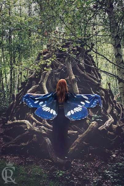 Волшебные платки в форме крыльев бабочек (10 фото)