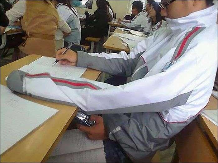 Хитрые шпаргалки школьников и студентов (33 фото)
