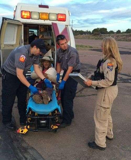 Спасатели нашли пропавшую пенсионерку, благодаря слову Help (3 фото)