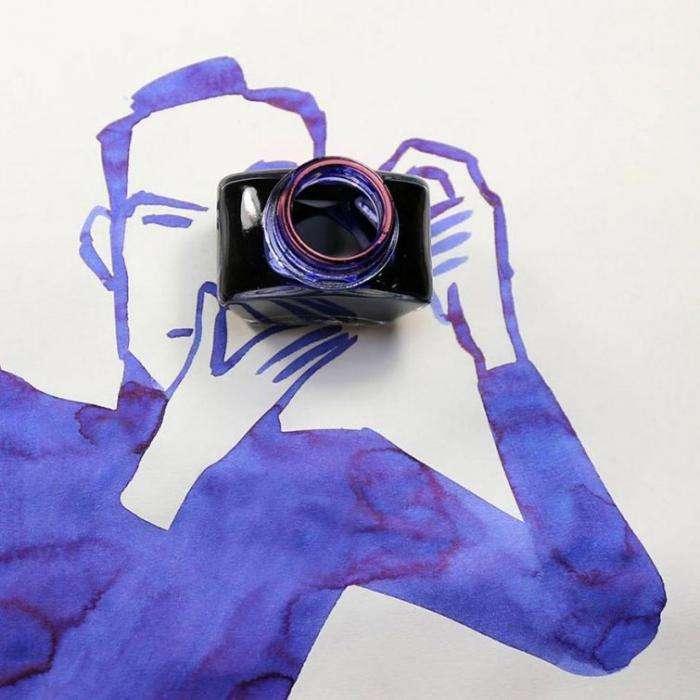 Находчивый художник мастерски включает предметы быта в свои рисунки (21 фото)