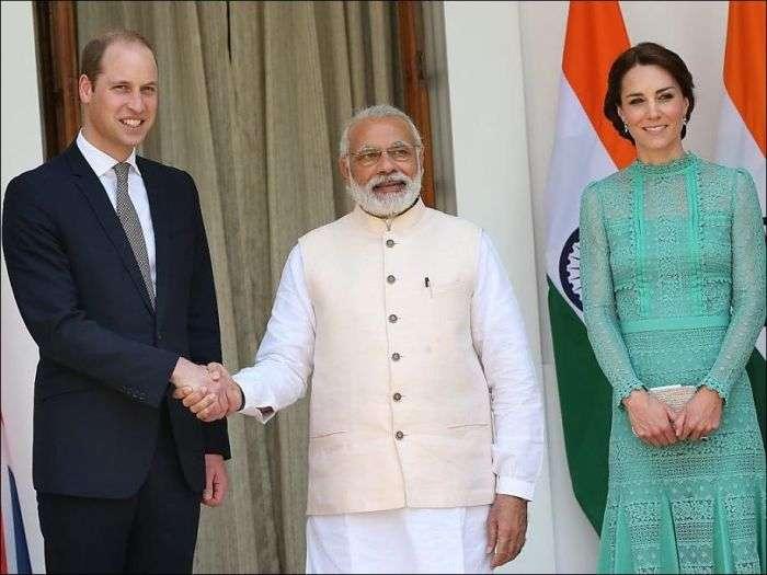 Последствия рукопожатия принца Уильяма и премьер-министра Индии (3 фото)