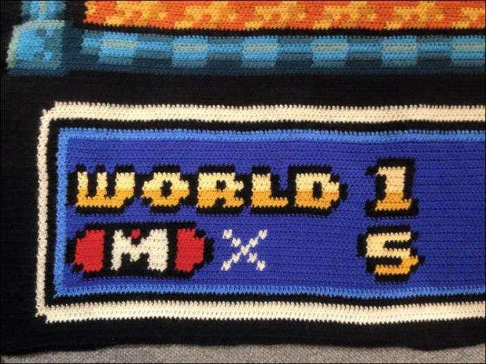 """Одеяло-скриншот с картой """"Супер Марио 3"""" (10 фото)"""