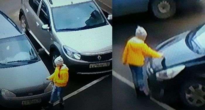 В Ижевске злая 10-летняя девочка поцарапала 6 машин (3 фото)