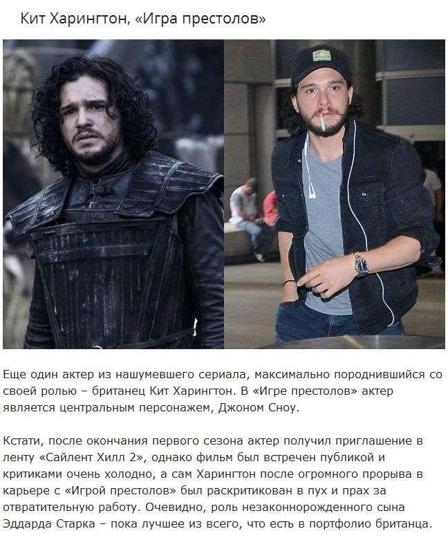 Актеры известных сериалов в реальной жизни (10 фото)