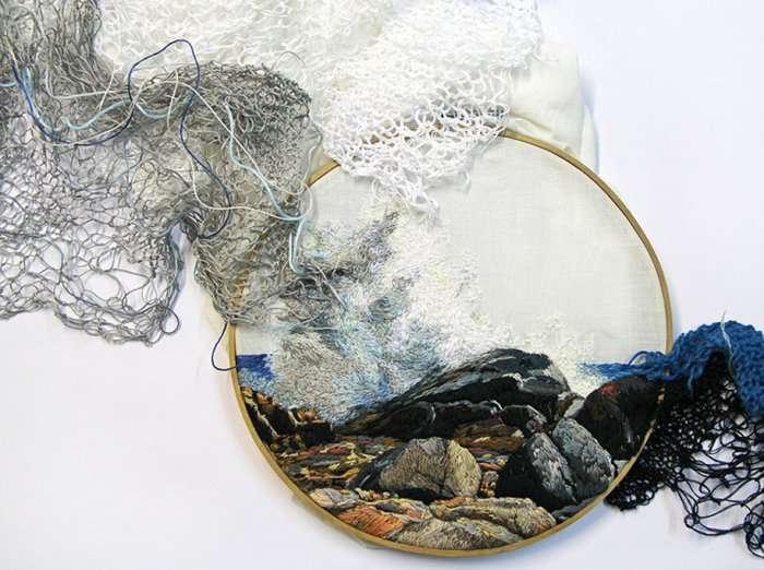 Безумная вышивка: жанр современного искусства (44 фото)