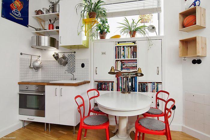 Зоны кухни и столовой
