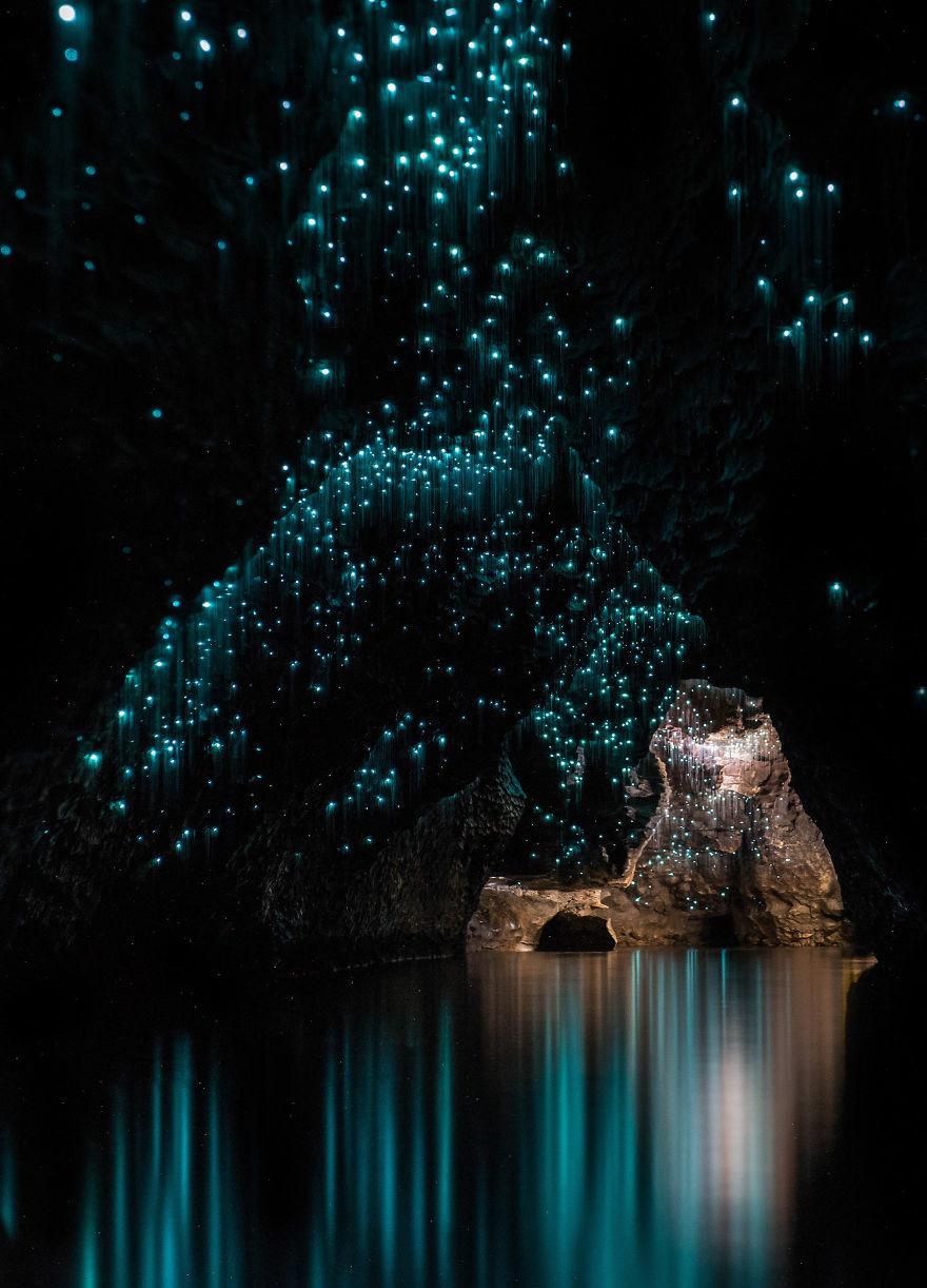 Пещеры Вайтомо - звездное небо из светлячков