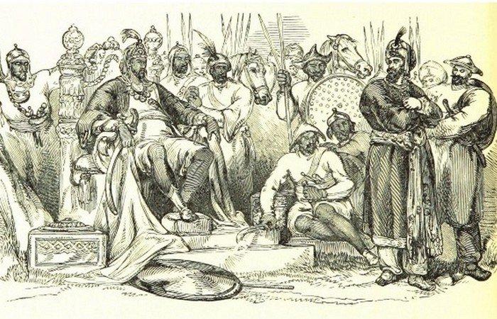 Завоевания Тамерлана - 14 век.