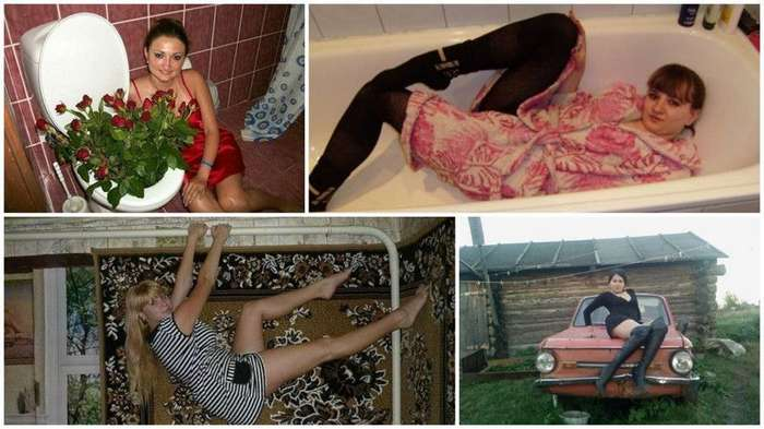 Фотографии, которые задумывались как гламурные, но что-то пошло не так приколы, сельский гламур, чудаки из соцсетей