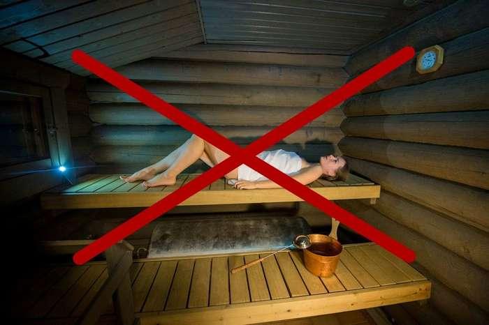 Что нельзя делать в Финской сауне