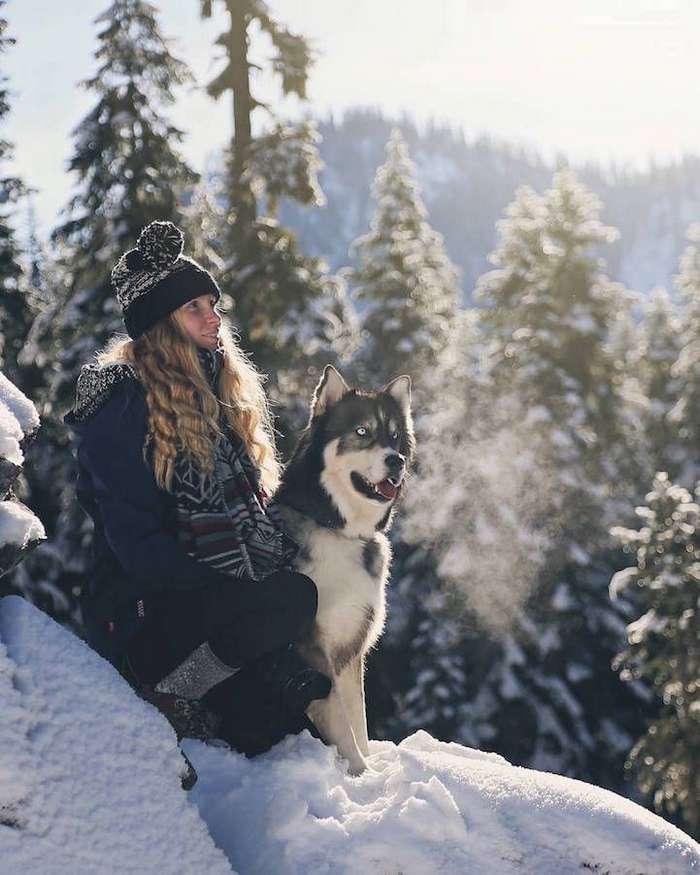 Девушка спасла хаски, а после собака помогла ей избавиться от насильственных отношений