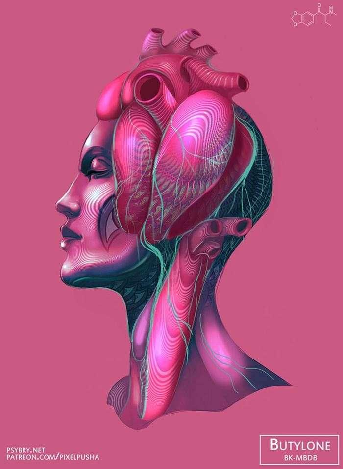 Художник принял 20 разных наркотиков, чтобы продемонстрировать воздействие препаратов на мозг человека