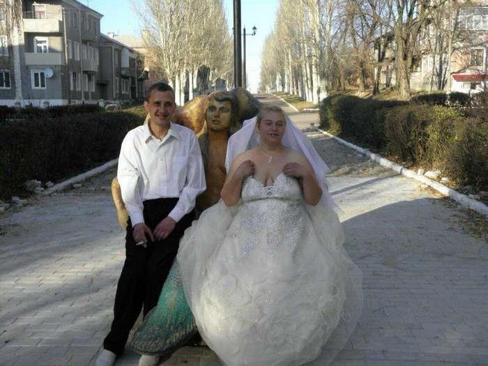 Забавные и странные свадебные фотографии