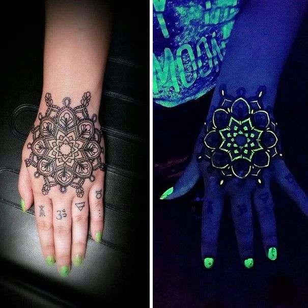 25 потрясающих светящихся в темноте татуировок, видимых в инфракрасном излучении