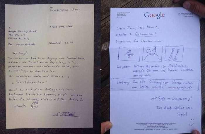 Отец с сыном решили воспользоваться Гуглом несколько нестандартным способом — по факсу. И получили ответ!