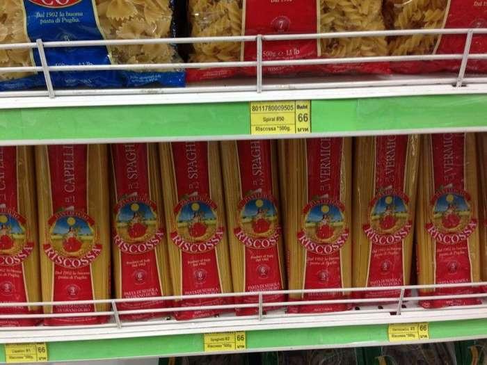Средние по цене макароны - 134 рубля заграница, пора валить, таиланд, факты