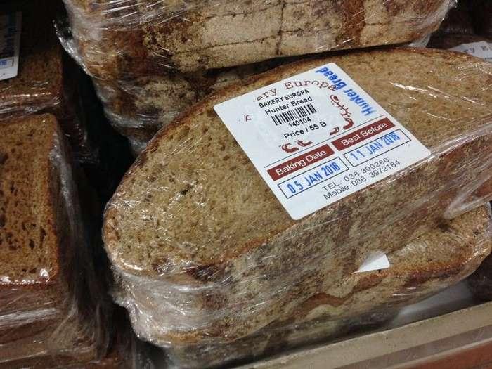 Хлеб – 140 руб. Есть и более дешёвый из маниоки, на вкус так себе, а по консистенции как пластилин. заграница, пора валить, таиланд, факты