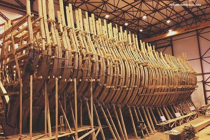 Как строят деревянные суда