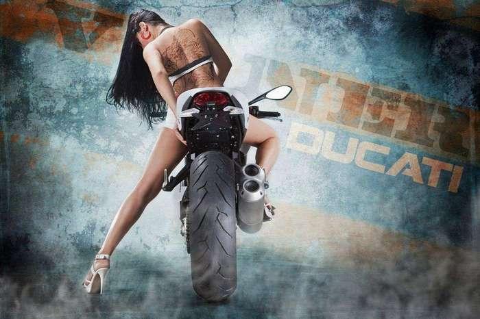 Мужской пост, красивые девушки на крутых мотоциклах
