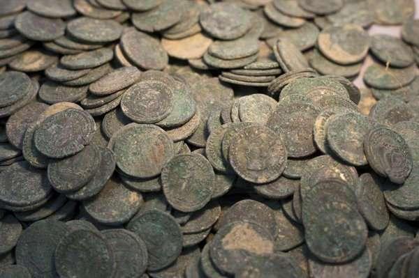 600кг римских монет найдено в Испании