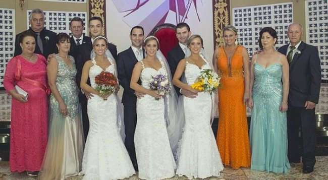 Свадьба сестер-тройняшек