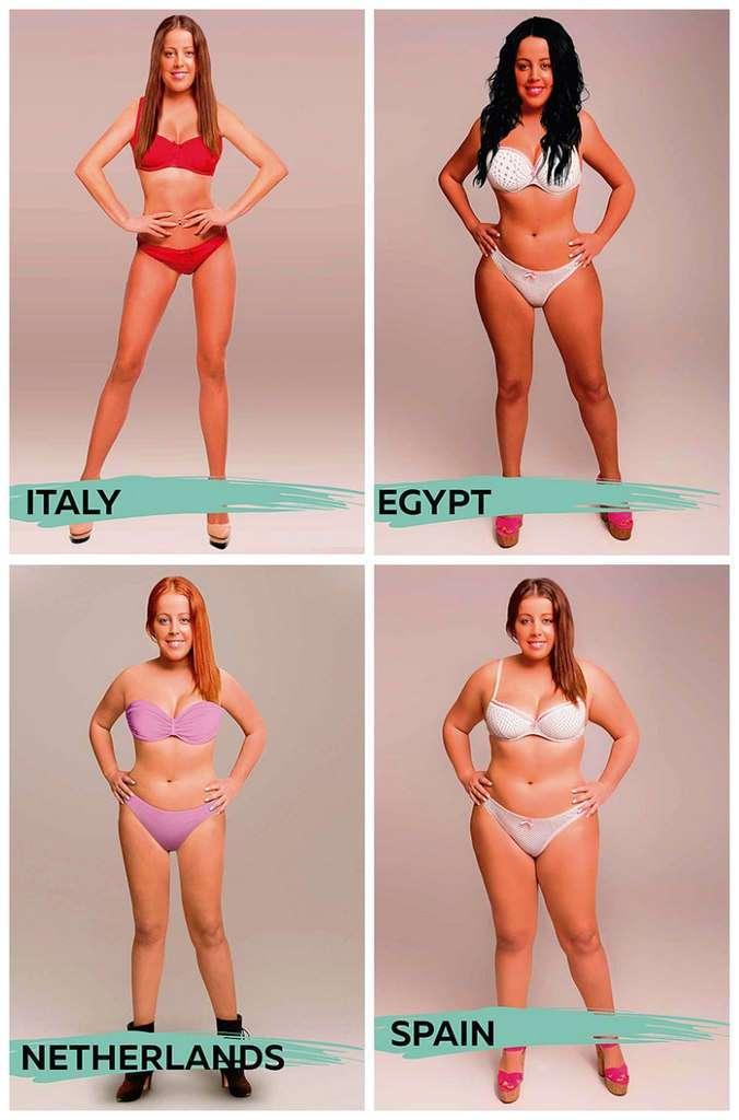 Как выглядит идеальная женская фигура в 18 странах